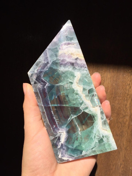 Fluorita Arcoiris Pulida Mineral De Colección