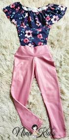 Conjunto Body Floral + Legging Cores 2 Ao 10 Nina Kid