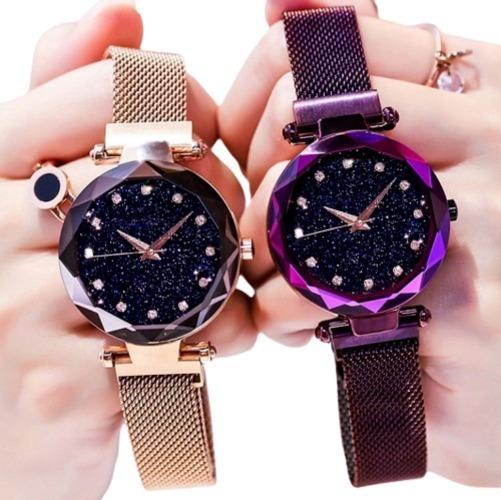 Kit 10 Relógio Feminino Céu Brilhante Strass Atacado