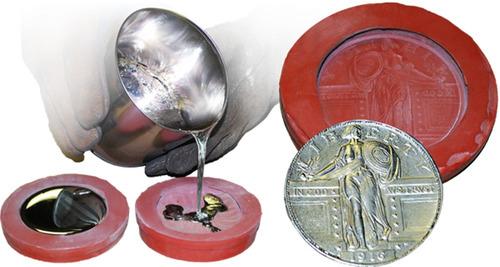 Caucho Silicona Liquido Mold 60 X250g Fundicion Aluminio