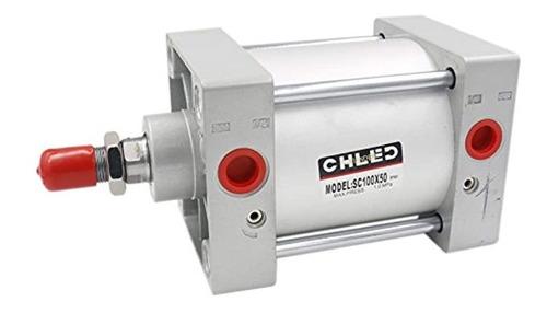 Imagen 1 de 5 de  Pneumatic Air Cylinder Sc  X  Pt  Bore: , Stroke:  Scr...