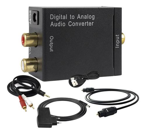 Imagem 1 de 8 de Conversor Áudio Digital Analógico Com Cabos Optico P2 X Rca
