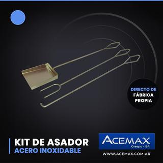 Kit Asador De Acero Inoxidable