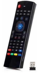 Controle Smart C/ Teclado Air Mouse 2.4ghz Preto