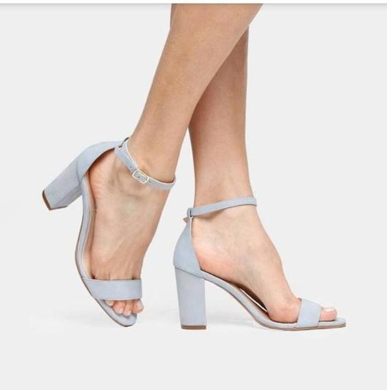Sandalia Salto Grosso Alto Confortavel 10cm 1808