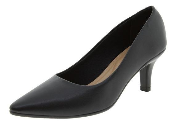 Sapato Feminino Scarpin Salto Médio Preto Beira Rio - 416310