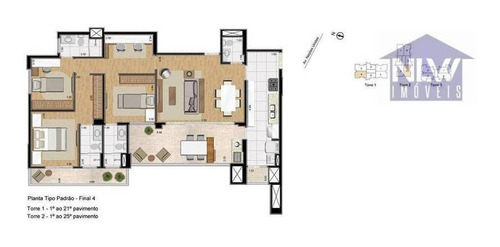 Apartamento Com 3 Dormitórios À Venda, 127 M² Por R$ 1.667.900,00 - Jardim Do Mar - São Bernardo Do Campo/sp - Ap3062