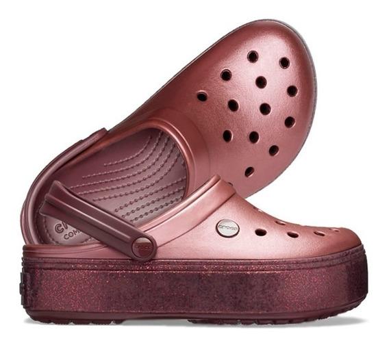 Crocs Crocband Platform Mujer- Burgundy