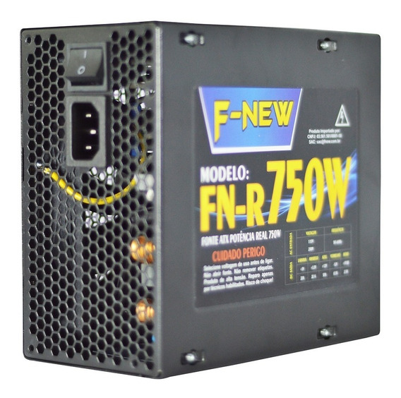 Fonte Gamer 700w Real Bivolt Silenciosa Pc 12x12 F-new