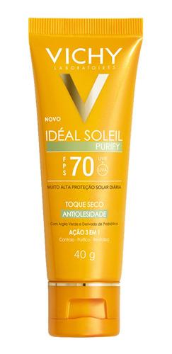 Protetor Solar Vichy - Idéal Soleil Purify Fps 70 40g