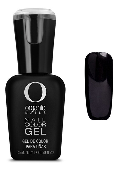 Color Gel Esmalte Uñas By Organic Nails Color Imperial Black