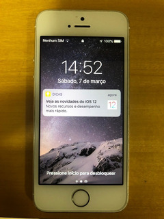 iPhone 5s 32gb Branco/prata Bem Novinho - I O S 12 !!!!