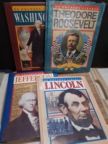 Lote 04 Grandes Líderes Washington Lincoln Jefferson