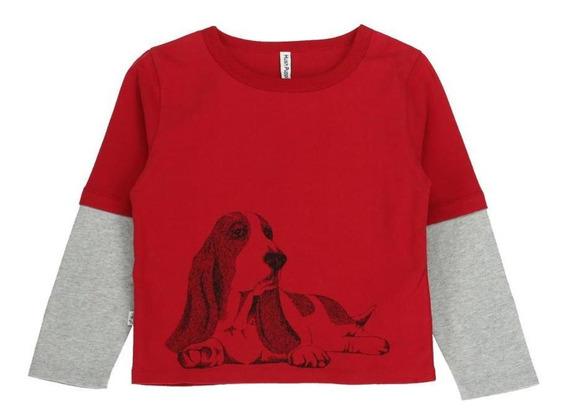 Remeras Niño Hush Puppies Kids Bw20-tsh/perro Chili Peppe