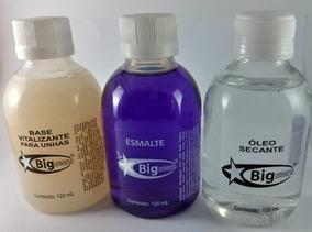 Combo Big Base + Extra Brilho + Óleo Secante