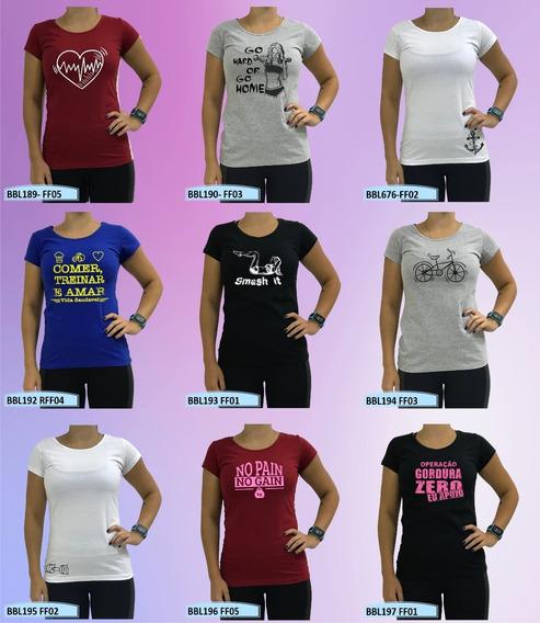 Blusa Feminina Camisa Manga Estampada Fitness Academia Lazer