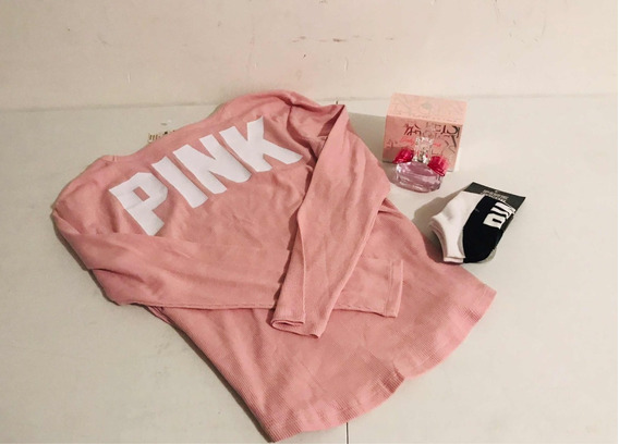 Sweater Rosa Victorias Secret Pink Original Paquete Promo