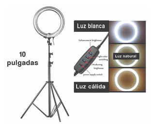 Aro De Luz De 10 Pulgadas Para Maquillaje Y Fotografia