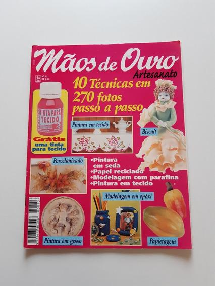 Revista Mãos De Ouro Artesanato Pintura Em Tecido D705