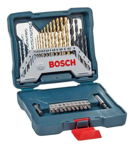 Kit Jogo Ferramentas Brocas Bits X-line Titânio 30 Pçs Bosch