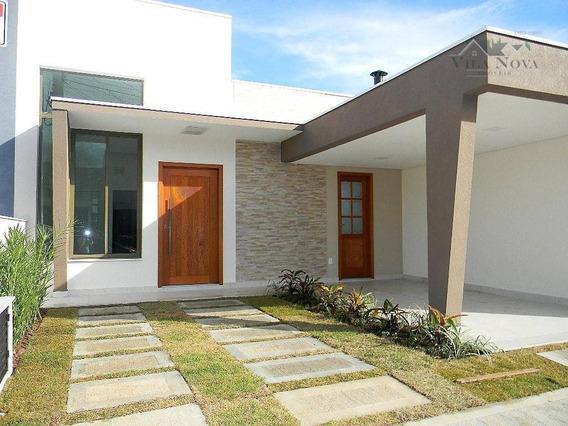 Casa Com 3 Dormitórios À Venda, 105 M² Por R$ 490.000 - Condomínio Jardim Montreal Residence - Indaiatuba/sp - Ca0678