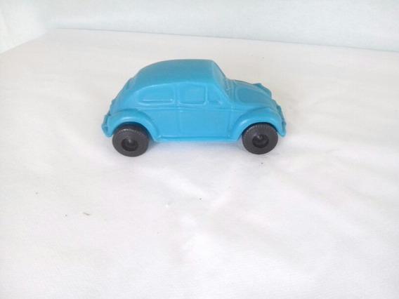 Miniatura Carrinho Fusca Em Plástico Bolha Azul