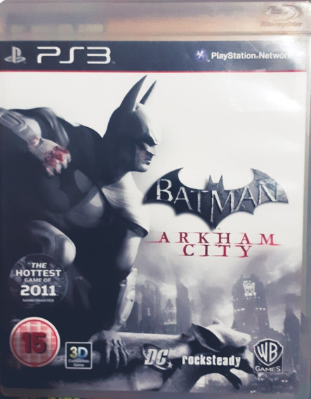 Jogo Game [ps3] Batman Arkhan City Com Encarte
