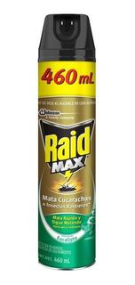 Raid Max Cucarachas E Insectos Rastreros Eucalipto 460 Ml