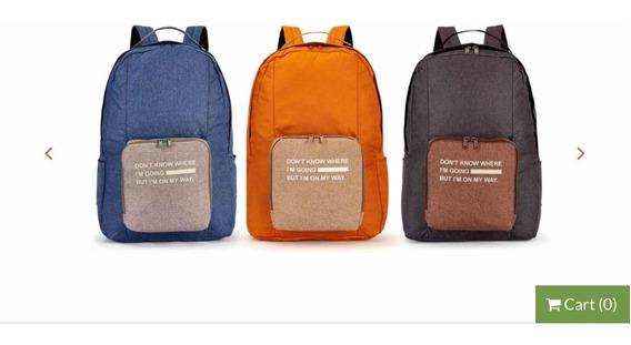 Ecomochila Plegable Bagpack Travel Unisex