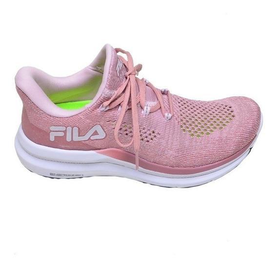 Tênis Feminino Corrida Racer Knit Energized Fila Rosa