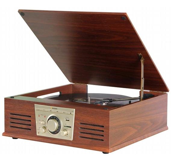 Vitrola Toca Discos De Vinil Sonata Stadio Bluetooth Bt Mp3 Rádio Fm Com Conversor Digital Arena Aria Phoenix Ópera Teno