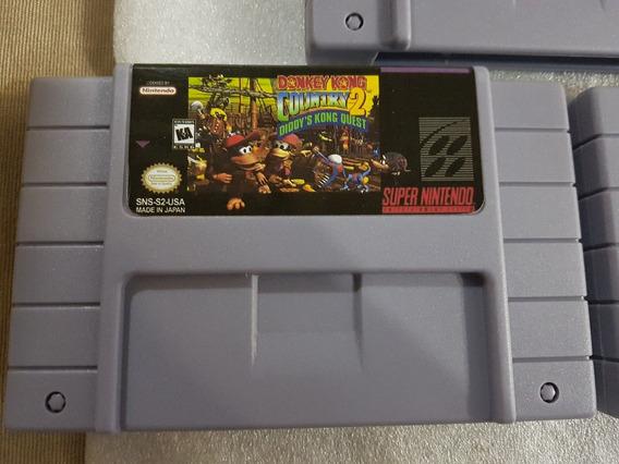 Cartucho Donkey Kong Country 2 Super Nintendo C/ Bateria