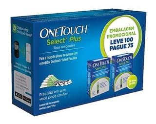 Tiras One Touch Select Plus Leve 100 Pague 75 Unidades