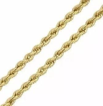 Pulseira Masculina Cordão Baiano 2mm Em Ouro 18k-750
