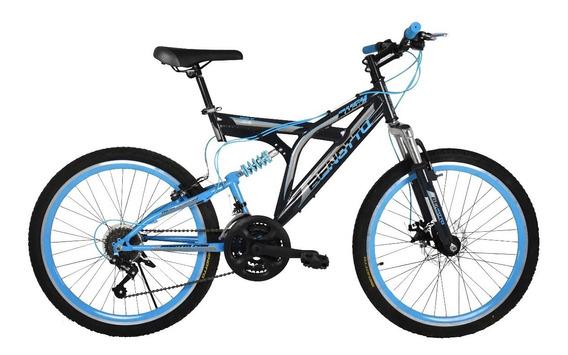 Bicicleta Benotto Rush R24 Suspensión Y Frenos De Disco 21v