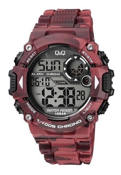 Reloj Q&q By Citizen Camuflaje Rojo Tactico M146j006y