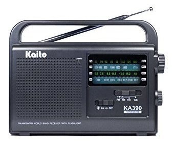 Kaito Ka390 Radio Ama Fm Portátil De Onda Corta Para Am /fm