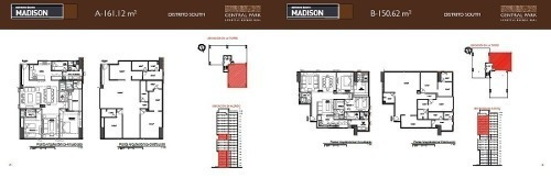 (crm-34-2174) Pre-venta Central Park Bosque Real Departamento Tipo Madison