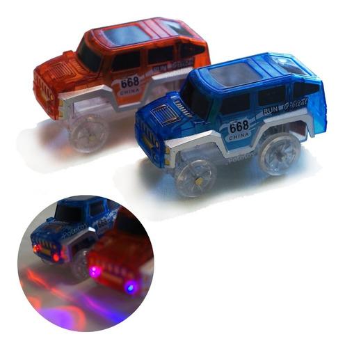 Auto Repuesto Pista Flexible - Autito Con Luz