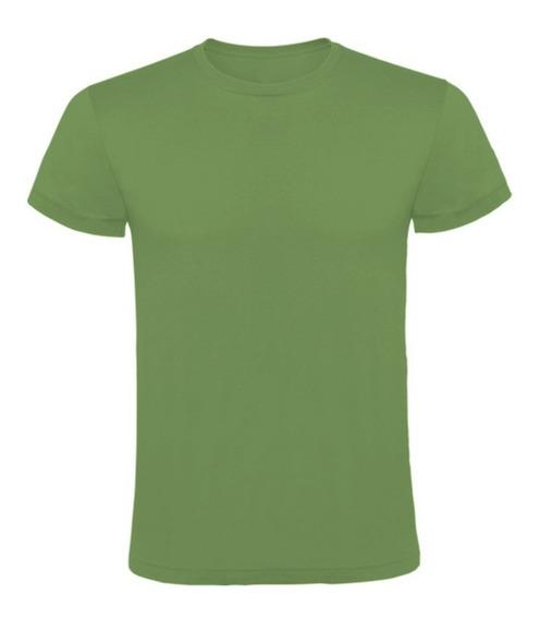 Remera De Algodon Verde Militar