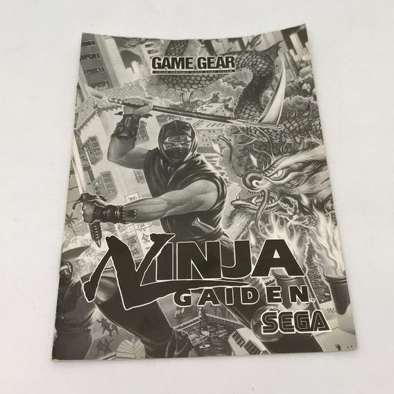 Manual Ninja Gaiden Game Gear Americano