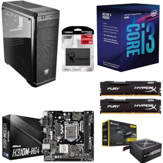 Pc Cougar Intel I3 8100 Mb H310m Hg4 Hx 16gb Vs400 Ssd 120gb
