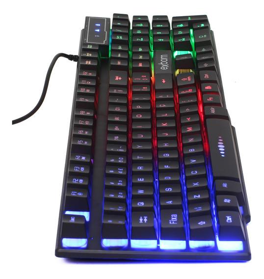 Teclado Semi Mecanico Gamer Pc Luminoso Rgb Iluminado Abnt2