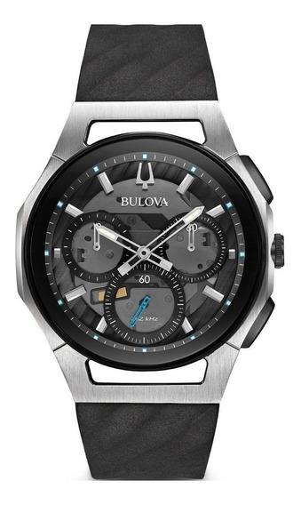 Relógio Bulova Curv 44mm Chronograph Grey Dial 98a161