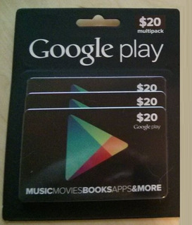 Tarjeta Google Play $20 Región Usa (2de$10)