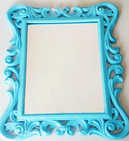 Espelho Retro Art House Com Moldura Trabalhada Colors 36cm
