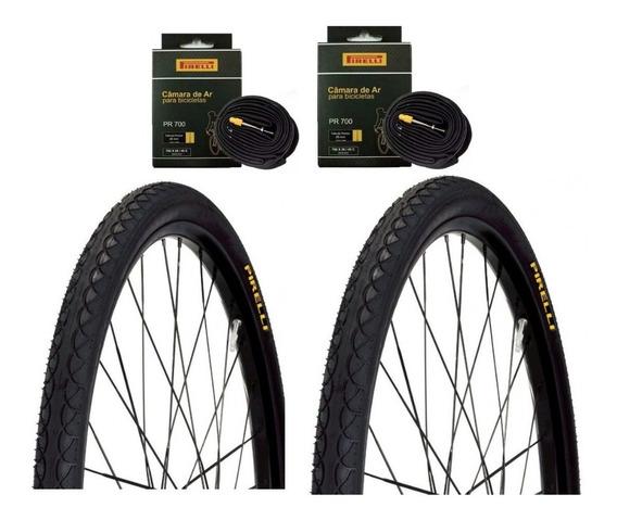 Par Pneu Bike 700x45 Touring Pirelli Serve Aro 29 + 2 Câmara