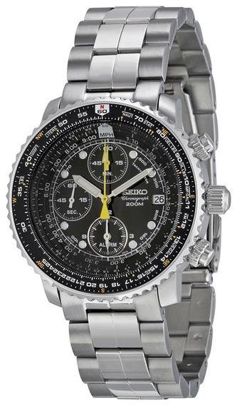 Reloj Seiko Aviador Sna411 Crono Nuevo ¡¡entrega Inmediata!!