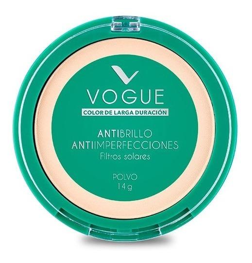 Polvo Compacto Antibrillo Tono Translucido Vogue