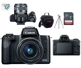 Canon Eos M50 +15-45mm Is Stm + Bolsa Tripé 64gb Nota Fiscal